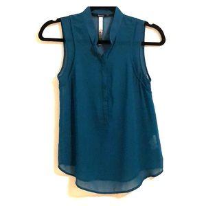 Sheer turquoise Kenzie blouse